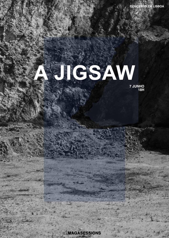 a jigsaw cartaz azul